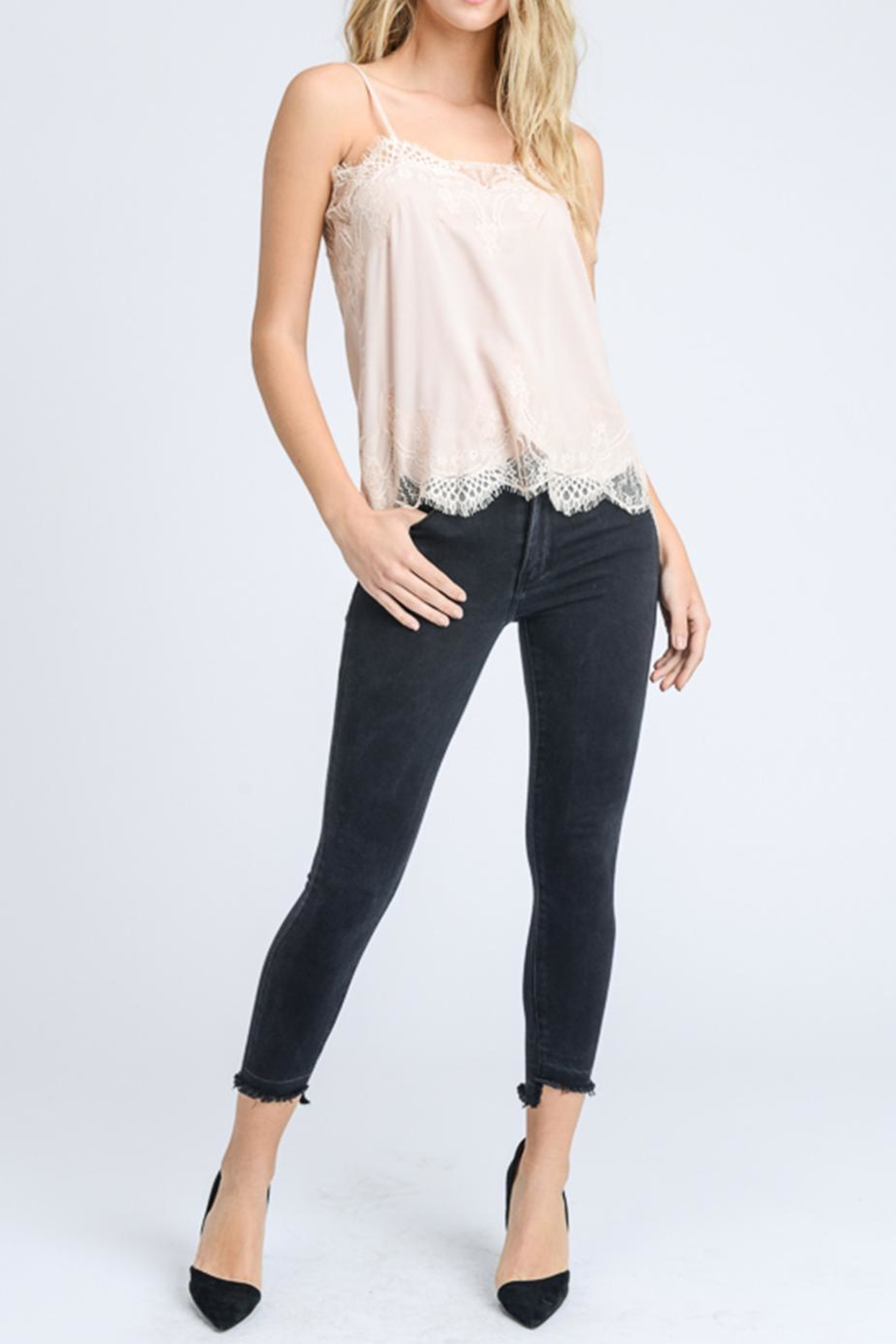 storia Solid Lace Cami - Front Full Image