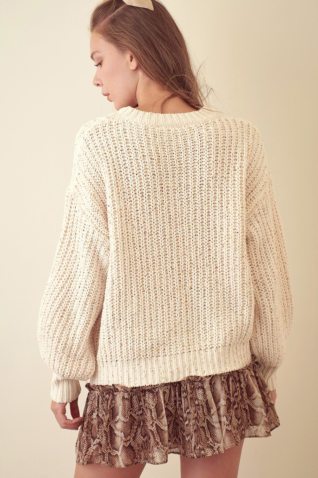 storia Sparkle Knitted Sweater - Front Full Image