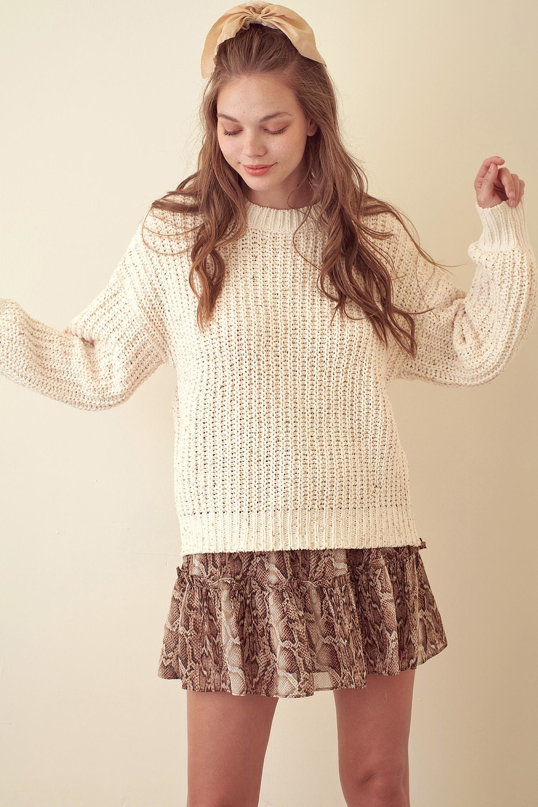 storia Sparkle Knitted Sweater - Main Image