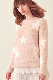 storia Star Fuzzy Sweater - Product Mini Image