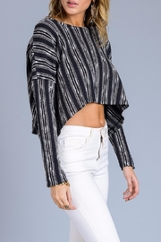 storia Stripe Crop Sweater - Front full body