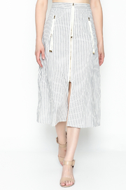 storia Striped Zipper Skirt - Product Mini Image