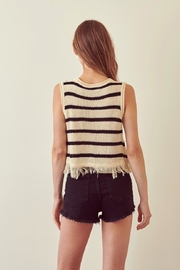 storia Striped Top - Front full body
