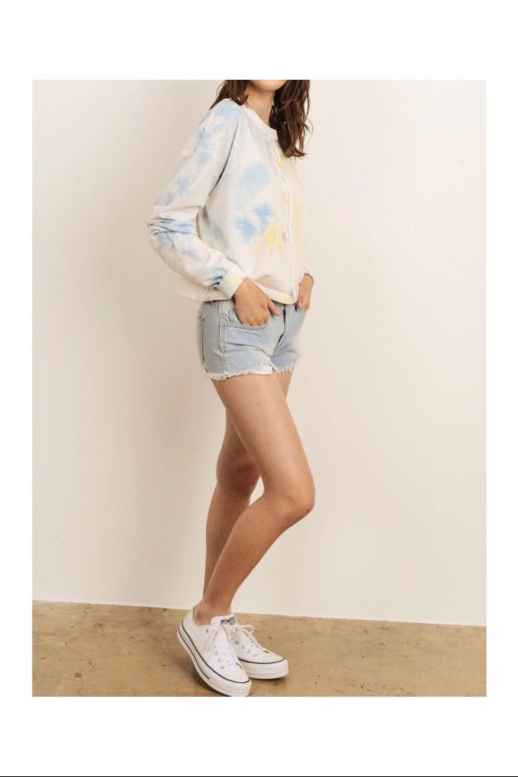 storia Tie Dye Sweatshirt - Front Cropped Image