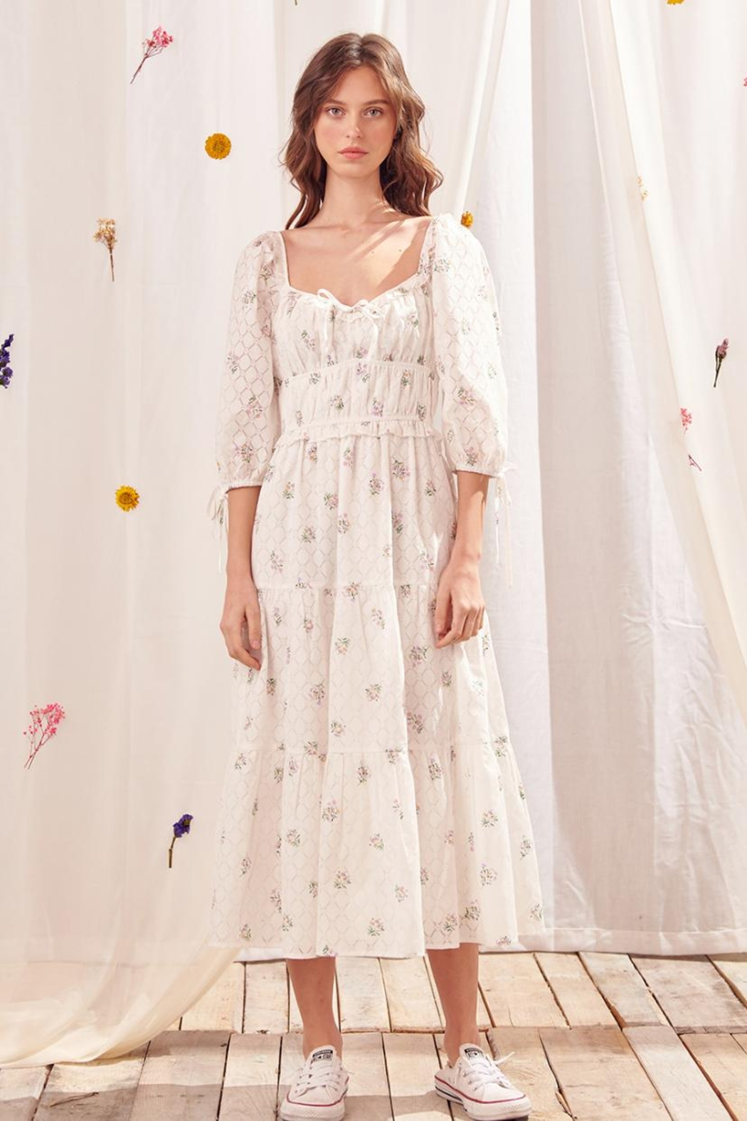 storia Tiered Floral Dress - Main Image
