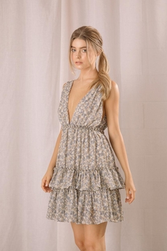 storia Tiered Floral Dress - Product List Image