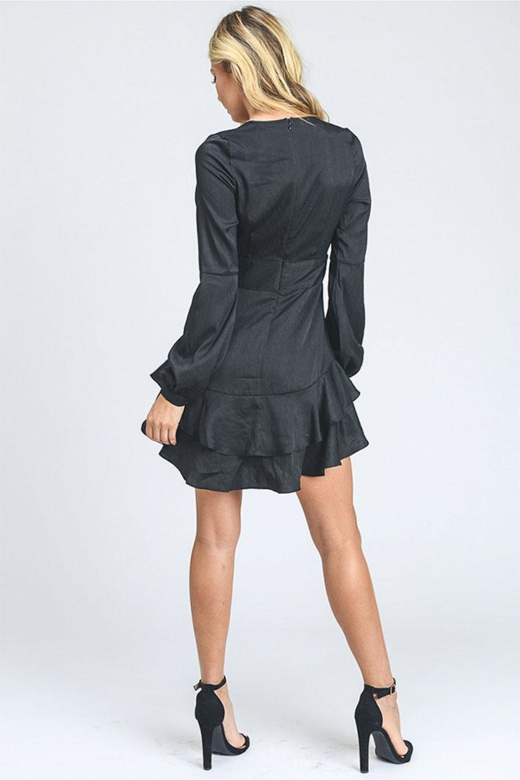 storia Tiered Mini Dress - Back Cropped Image