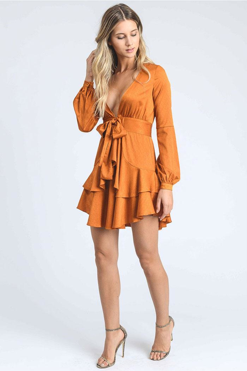 storia Tiered Mini Dress - Side Cropped Image