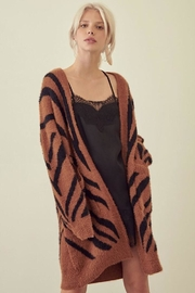 storia Tiger Print Cardigan - Product Mini Image