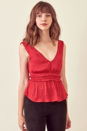 storia V-Neck Sleeveless Top - Product Mini Image