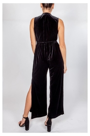 storia Velvet Plunging Jumpsuit - Back cropped