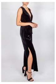 storia Velvet Plunging Jumpsuit - Front full body