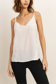 storia White Lace Cami - Front cropped