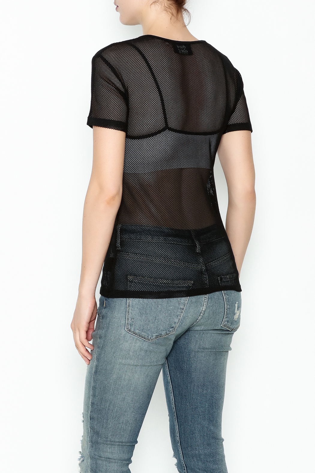 storia Mesh Net Top - Back Cropped Image