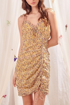 storia Yellow Floral Dress - Product List Image