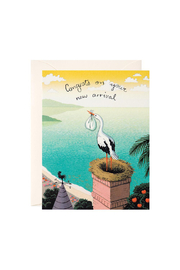 JooJoo Paper Stork Delivery Card - Front cropped