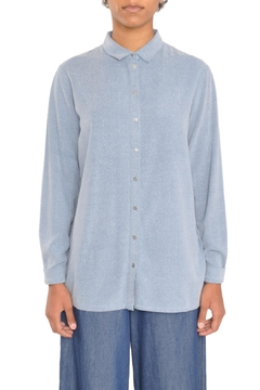 Storm & Marie Blue Silk Shirt - Product List Image