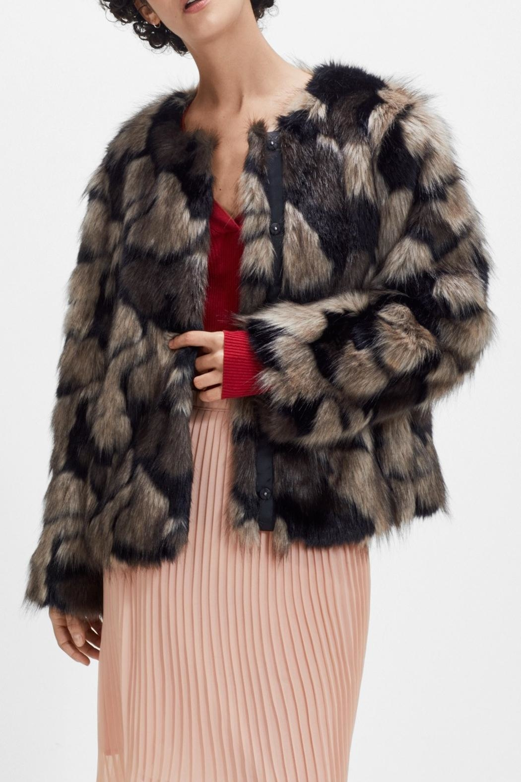 Storm & Marie Moira Fur Jacket - Front Cropped Image