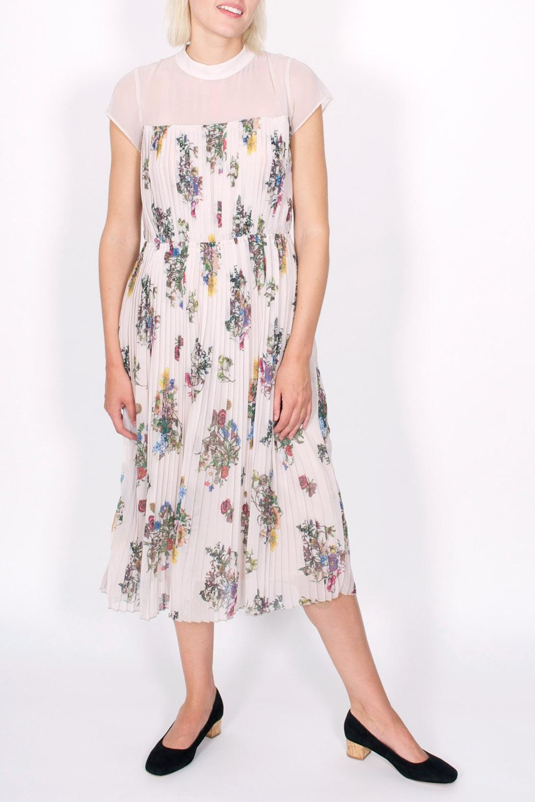 Storm & Marie Palm Floral Dress - Front Cropped Image