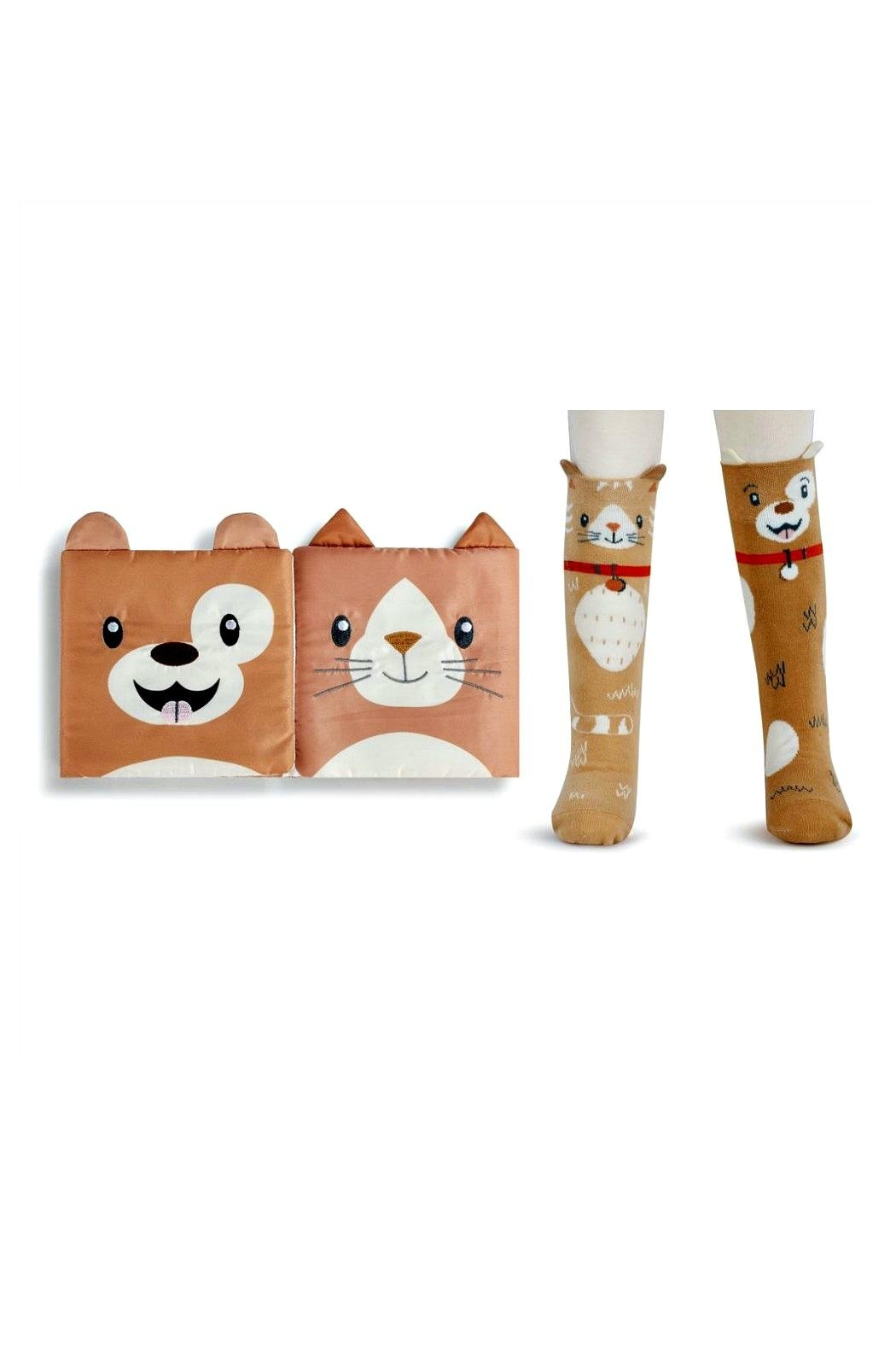 DEMDACO Story-Time Cat-And-Dog Sock-And-Book-Set - Main Image