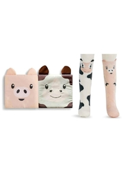 DEMDACO Story-Time Cow-And-Pig Sock-And-Book-Set - Other