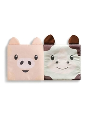 DEMDACO Story-Time Cow-And-Pig Sock-And-Book-Set - Front full body