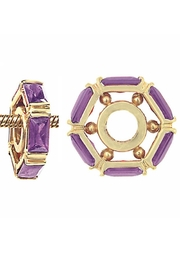 Storywheels Amethyst 14kt Gold Wheel For Necklace Or Bracelet - Front cropped