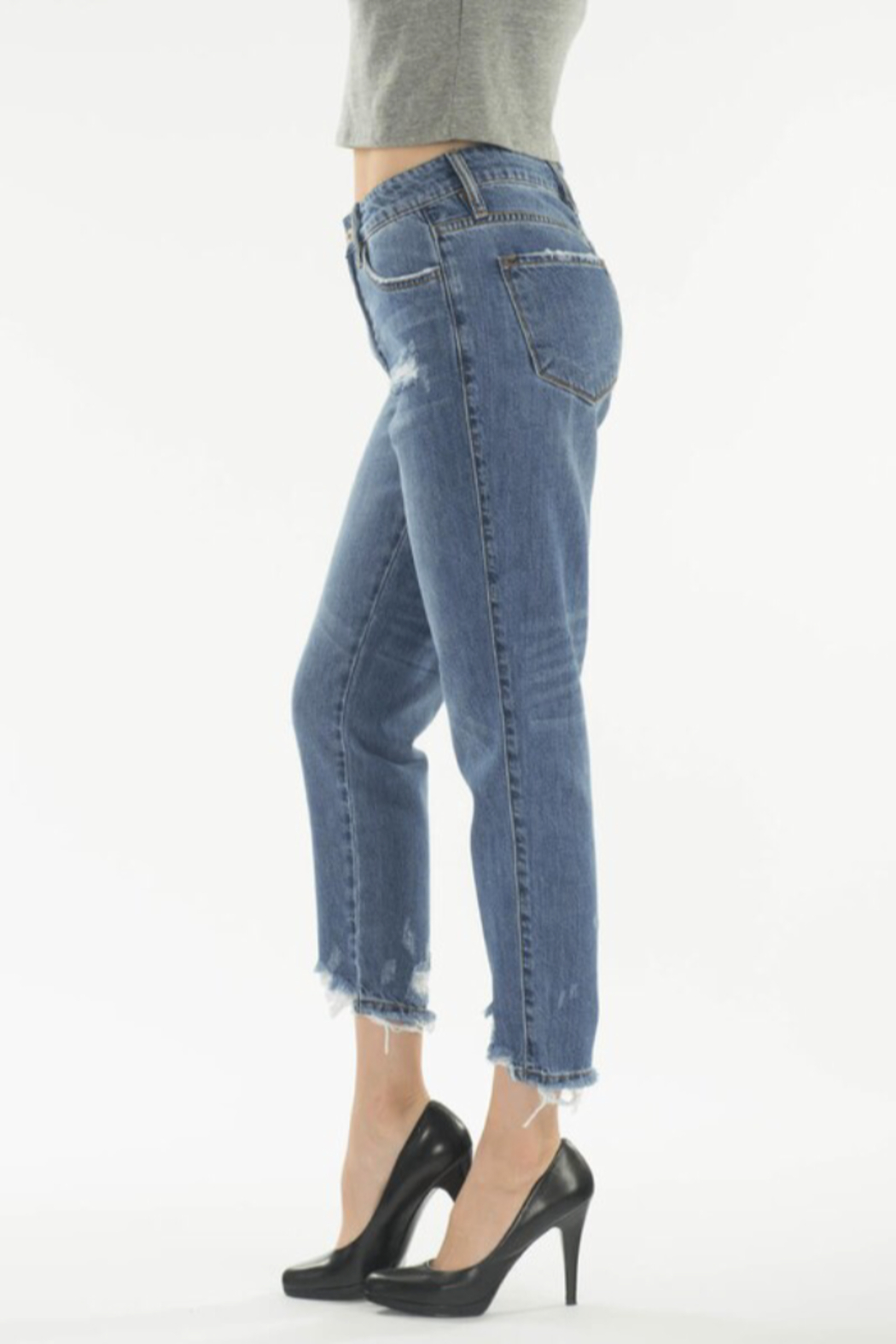 KanCan Straight Crop Jeans - Side Cropped Image