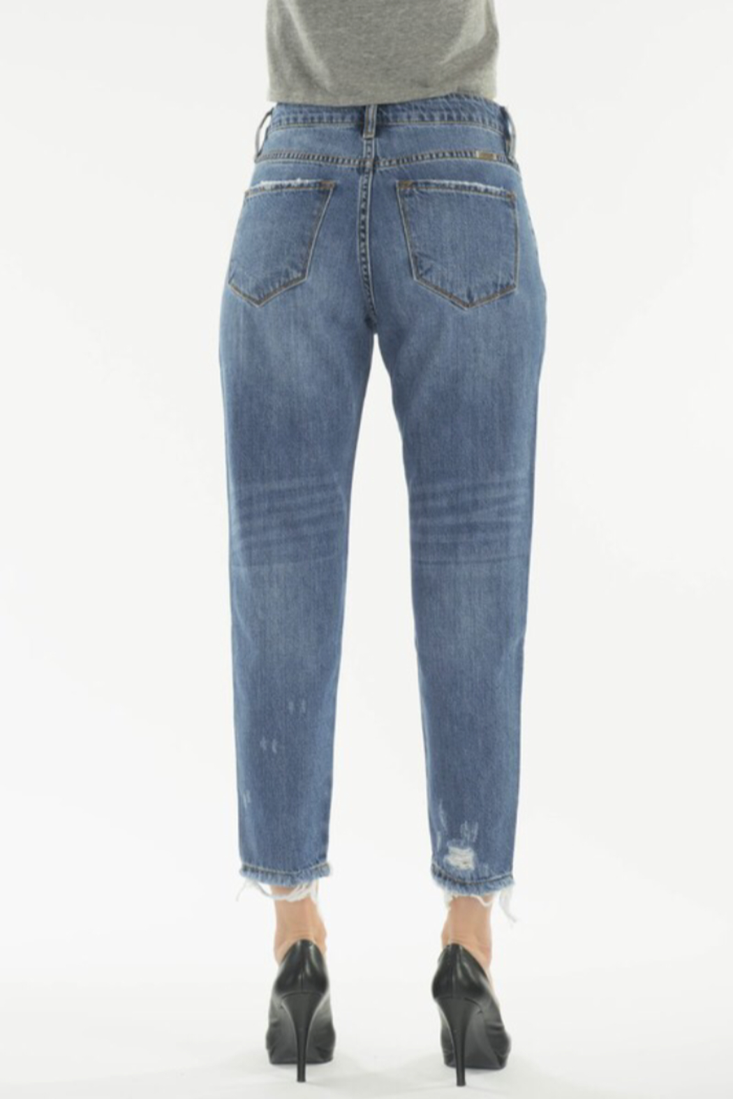 KanCan Straight Crop Jeans - Back Cropped Image