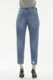 KanCan Straight Crop Jeans - Back cropped