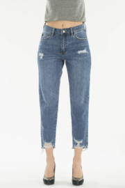 KanCan Straight Crop Jeans - Front cropped