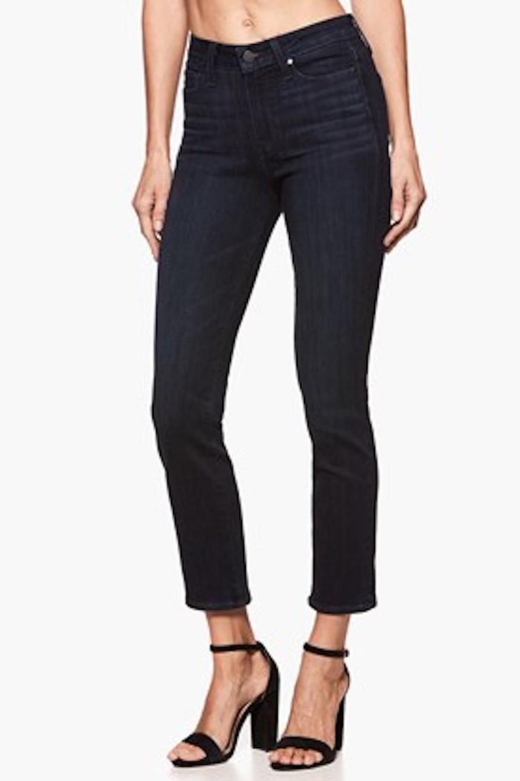 Paige Premium Denim Straight Cropped Jean - Main Image