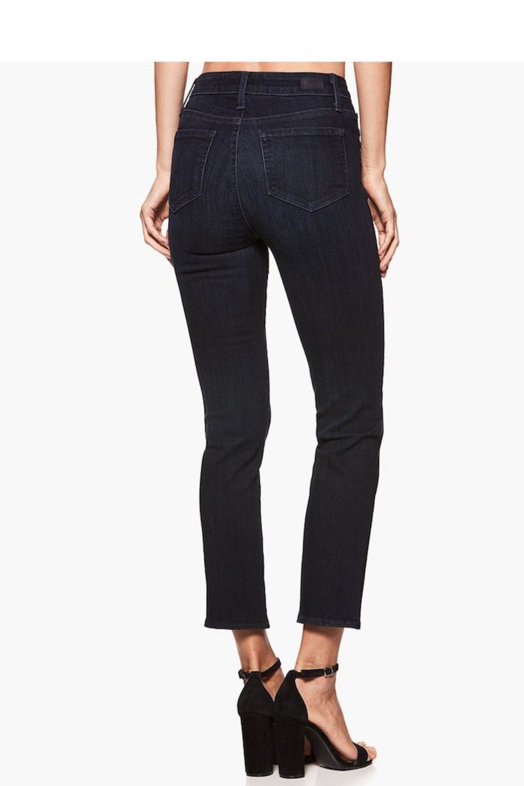 Paige Premium Denim Straight Cropped Jean - Front Full Image