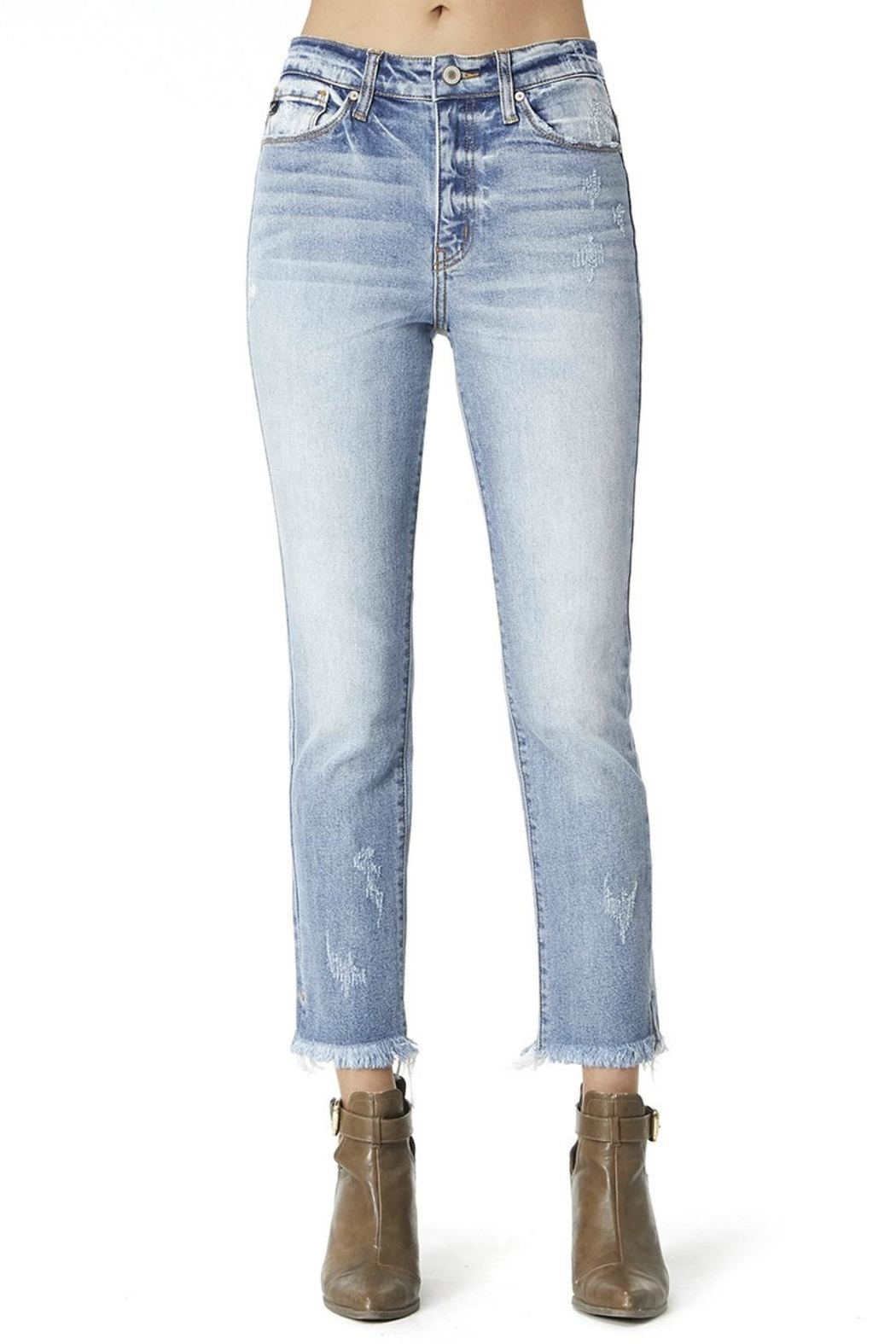 Pretty Little Things Straight Leg Denim - Front Cropped Image