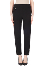 Joseph Ribkoff Straight Leg Pull On Pearl Detail Pant - Product Mini Image
