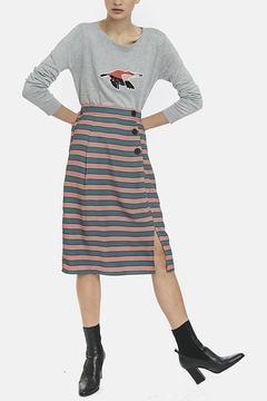 Compania Fantastica Straight Striped Skirt - Product List Image