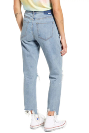 Daze Straight Up Ripped Ankle Skinny Jeans - Side cropped