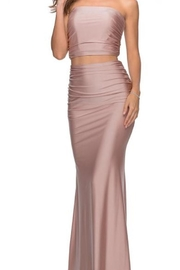 La femme Strapless 2PC Gown - Front cropped