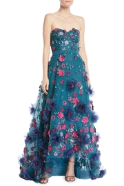 Marchesa Strapless 3d Gown - Product Mini Image