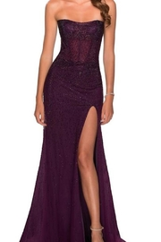 La femme Strapless Beaded Gown - Product Mini Image