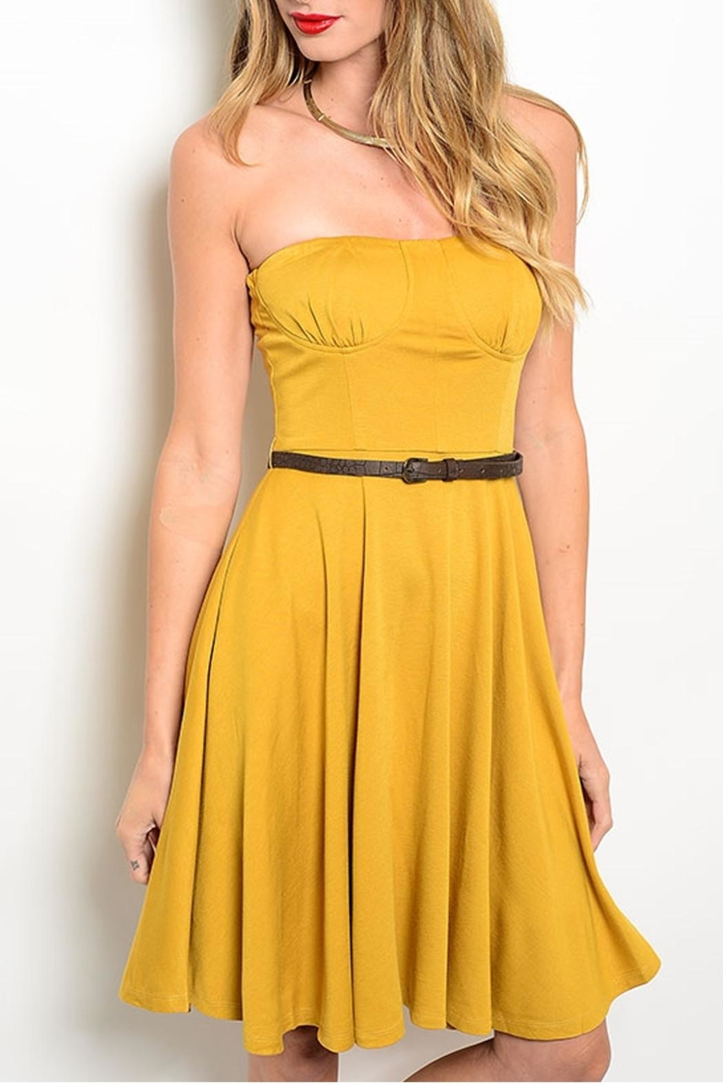 Alythea Strapless Belted Dress - Main Image