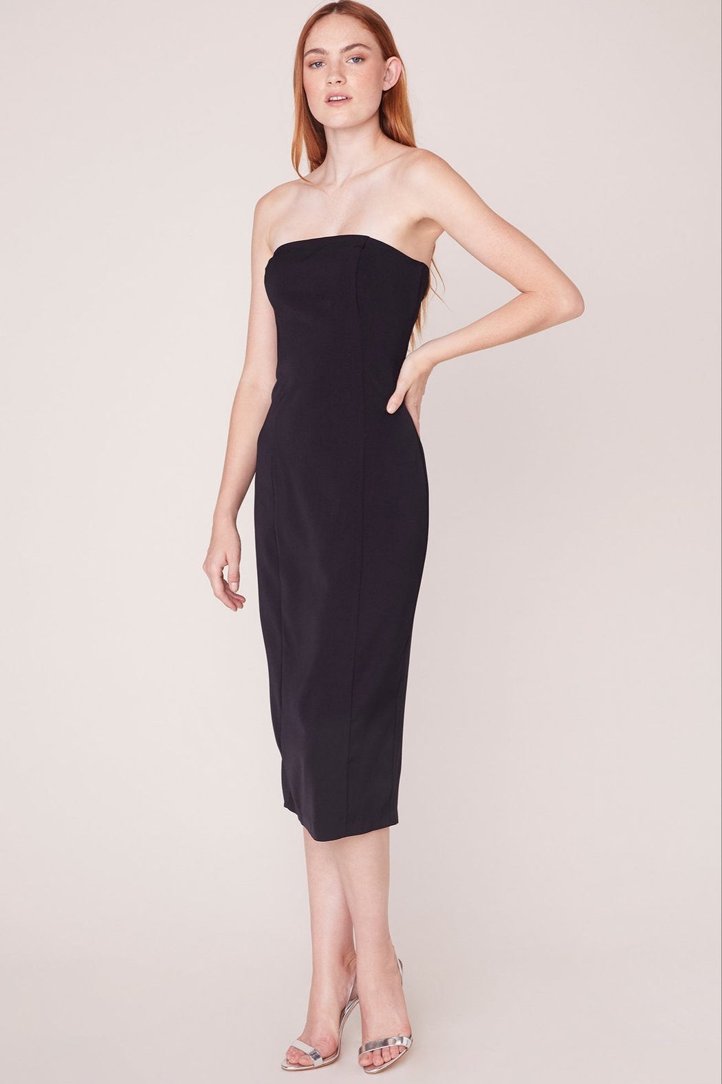 BB Dakota Strapless Body-Con Dress - Front Cropped Image