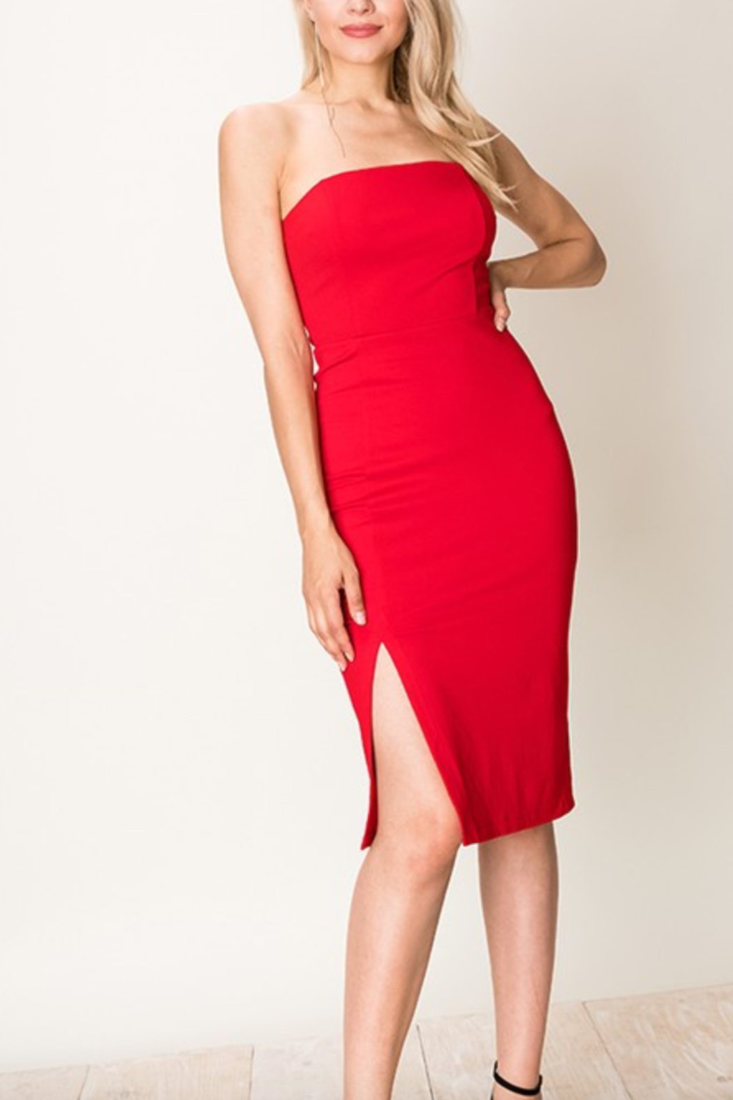 HYFVE Strapless Bodycon Dress - Front Cropped Image