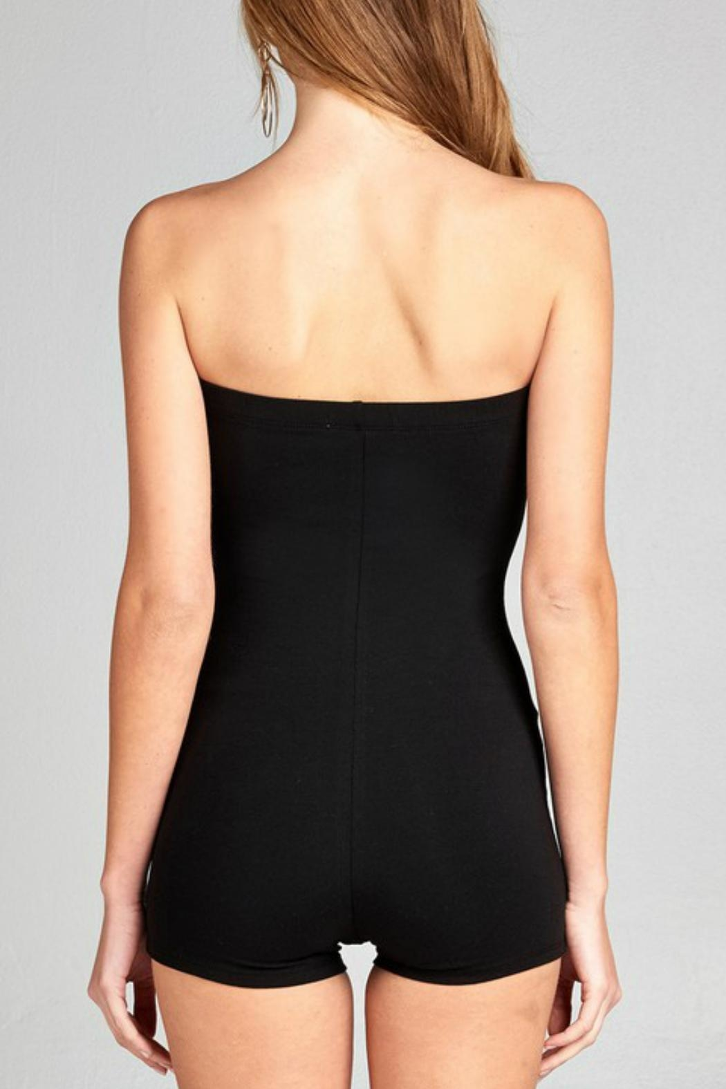 Minx Strapless Bodycon Romper - Front Full Image
