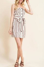 Main Strip Strapless Button-Down Dress - Product Mini Image