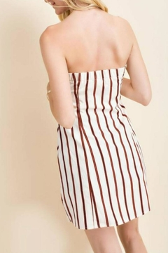 Main Strip Strapless Button-Down Dress - Alternate List Image