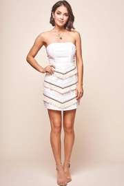 Selfie Leslie Strapless Cotton Dress - Product Mini Image