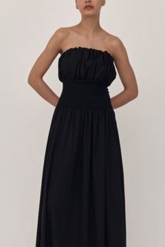 Esse Studios Strapless Cotton Ribbed Maxi Dress - Product List Image