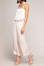 Naked Zebra Strapless Cropped Jumpsuit - Product Mini Image