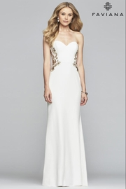 Faviana Strapless Embroidered Gown - Product Mini Image